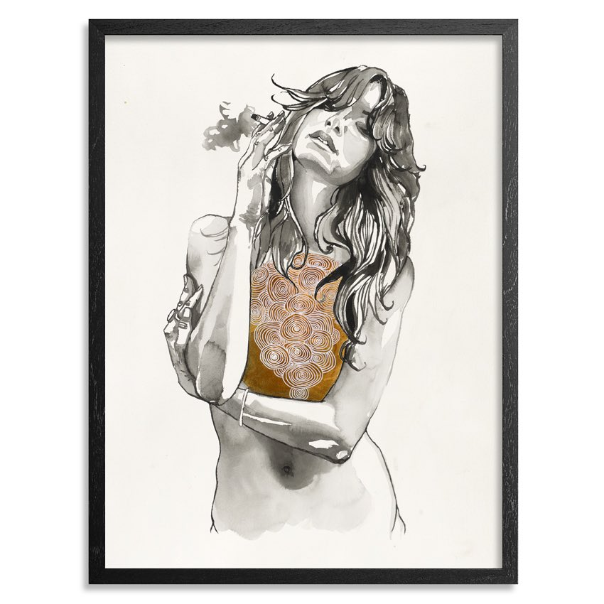 "Conversation ➡️ photograph ➡️ painting ➡️ print. @mybrandonboyd drops ""Heart of Gold"" now at https://t.co/s4WtQVQqvA https://t.co/RLi6hY6nIY"