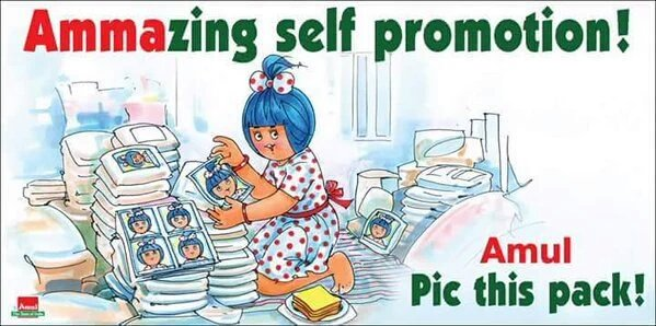 Looks like the Amul girl is getting ready to retire from Tamil Nadu. https://t.co/yt94IL9K82