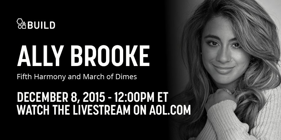 Calling all #Harmonizers! @AllyBrooke of @FifthHarmony joins us at 12 PM ET to chat @MarchOfDimes!