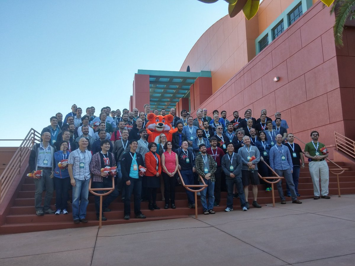 The '10 years or more at Mozilla' group at #mozlando https://t.co/ACG6AdDFMr