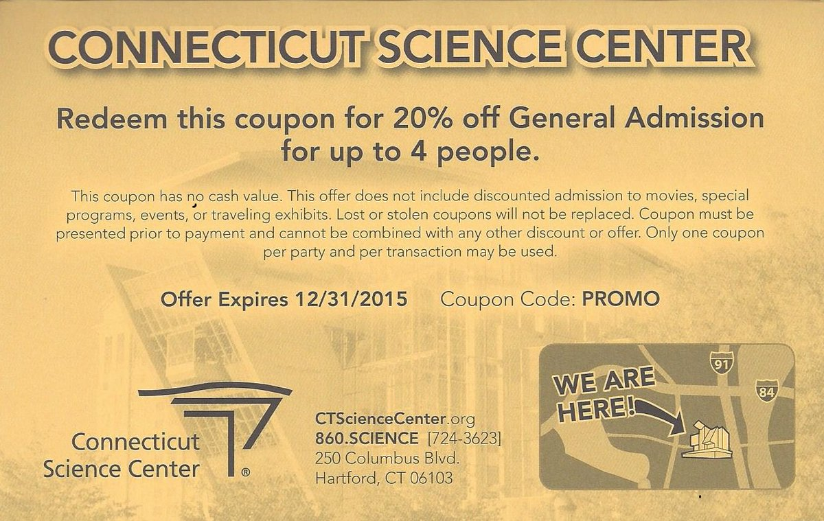 Coupons for Stores Related to ctsciencecenter.org