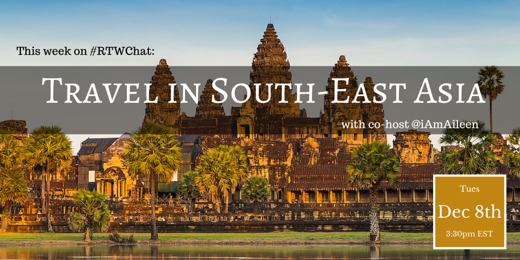Only an hour until @iAmAileen joins us to co-host Travel in SE Asia on #RTWChat. Who's coming? #trlt https://t.co/zTvdsXiGdh
