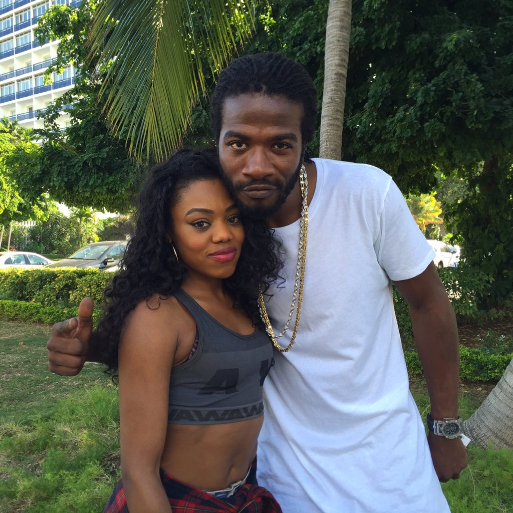 @RealGyptian x @LadyLeshurr touchin' road in #Jamaica