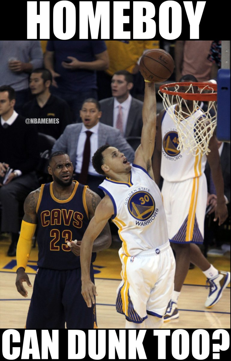 Lebron Dunk On Curry