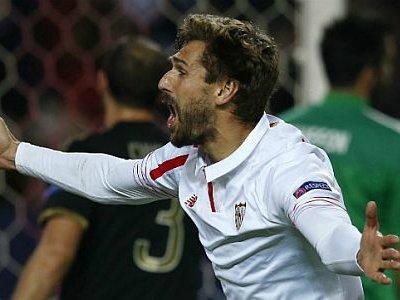 L'ex Llorente festeggia il gol partita in Siviglia-Juventus