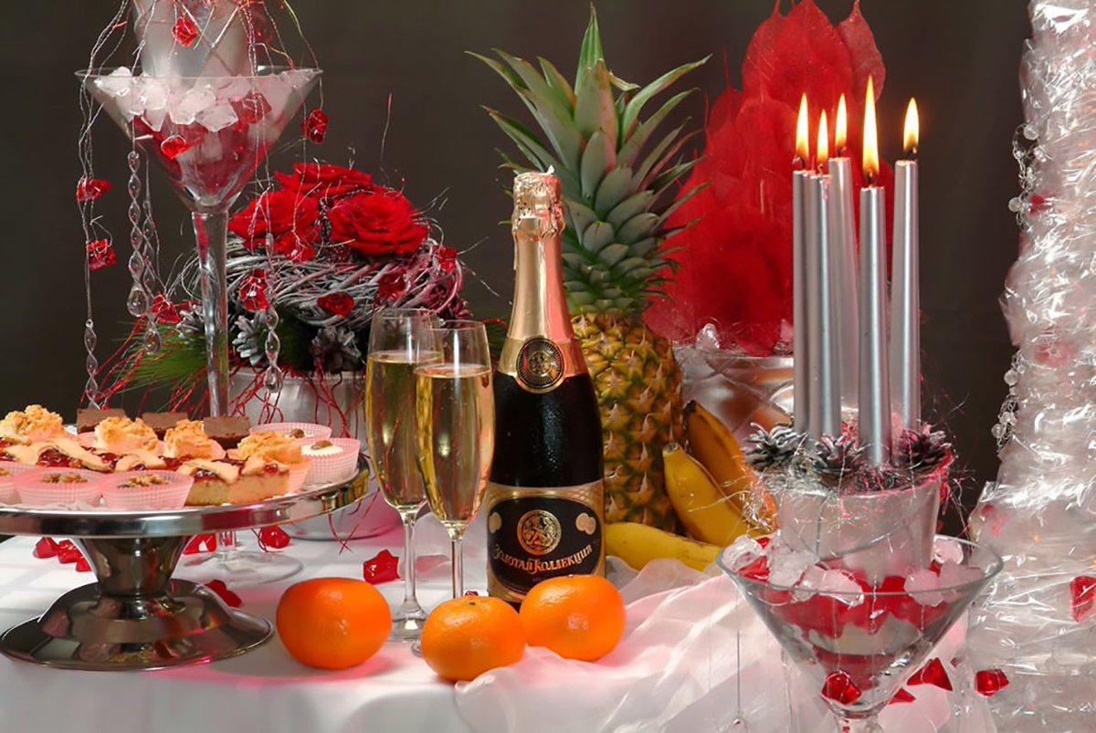 Открытка свечи шампанское, открыток
