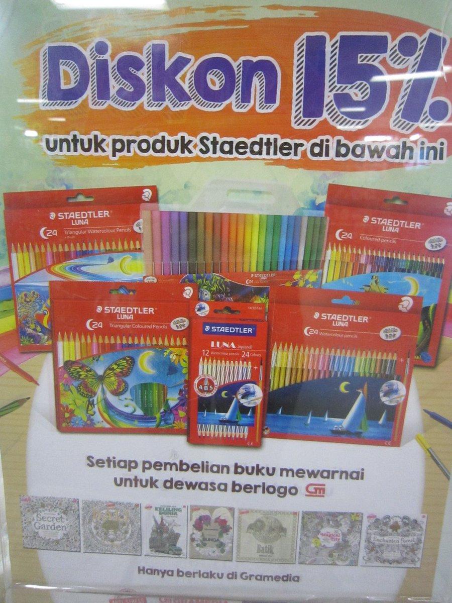 Gramedia Batam On Twitter Dapatkan Diskon 15 Untuk Produk Staedtler Setiap Pembelanjaan Adult Coloring Book Berlogo GM Di Gramediabcs