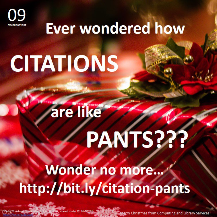 For #hudlibadvent Day 9, the answer to the eternal question: how are citations like pants?? https://t.co/qyKzW31SfC https://t.co/V0Os9cPkqf