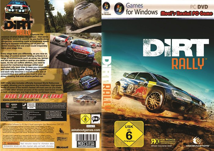 moels rental pc game on twitter baru dirt rally 8 dvd. Black Bedroom Furniture Sets. Home Design Ideas