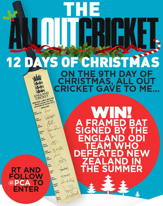It's the 9th day of Christmas! RT and follow @PCA to win this very special signed bat. https://t.co/P4Y7D6Drgb