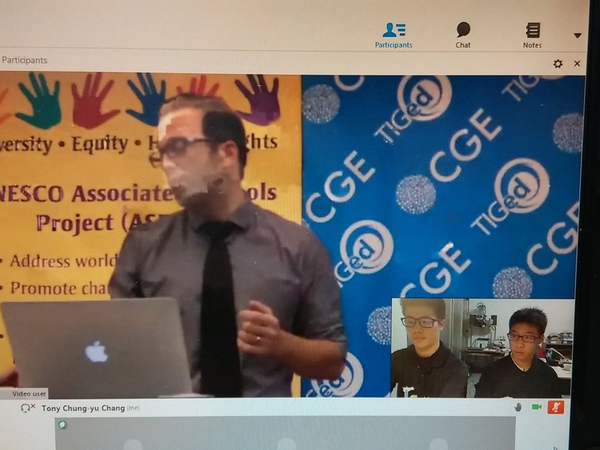 Connecting from Taiwan!! EXCITED to share thoughts with students around the globe #decarbonize #globlencounters https://t.co/9wm2h5VAs6