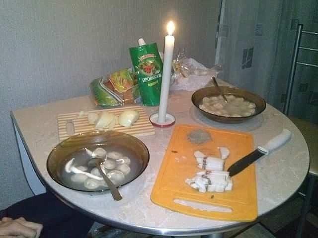 как сделать романтичный ужин для жены