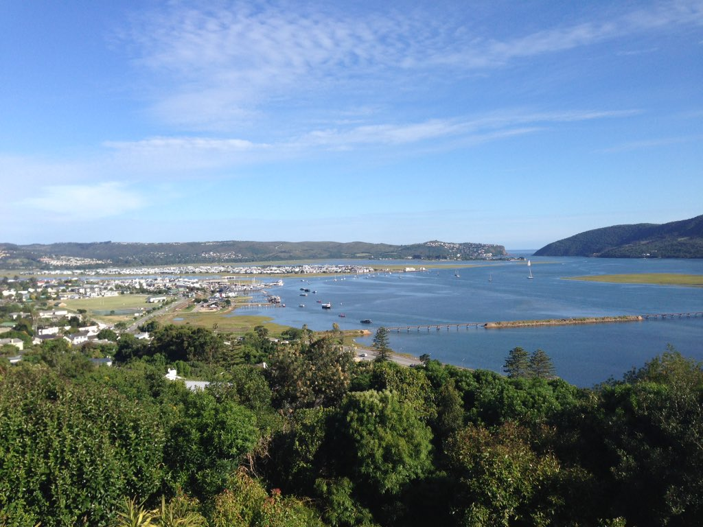 Last day of field work in South Africa done - just arrived at Paradise Found B&B in Knysna - look at this view... https://t.co/FCvcmXoRDL