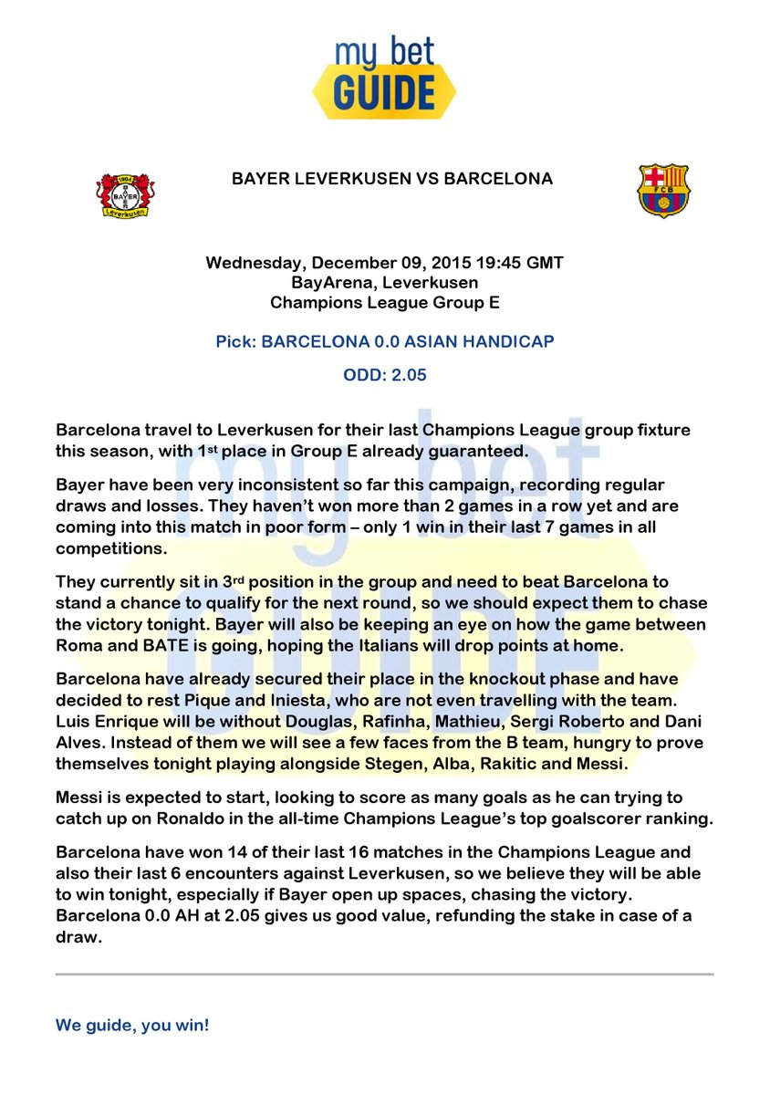 Leverkusen v barcelona betting tips get rich off binary options