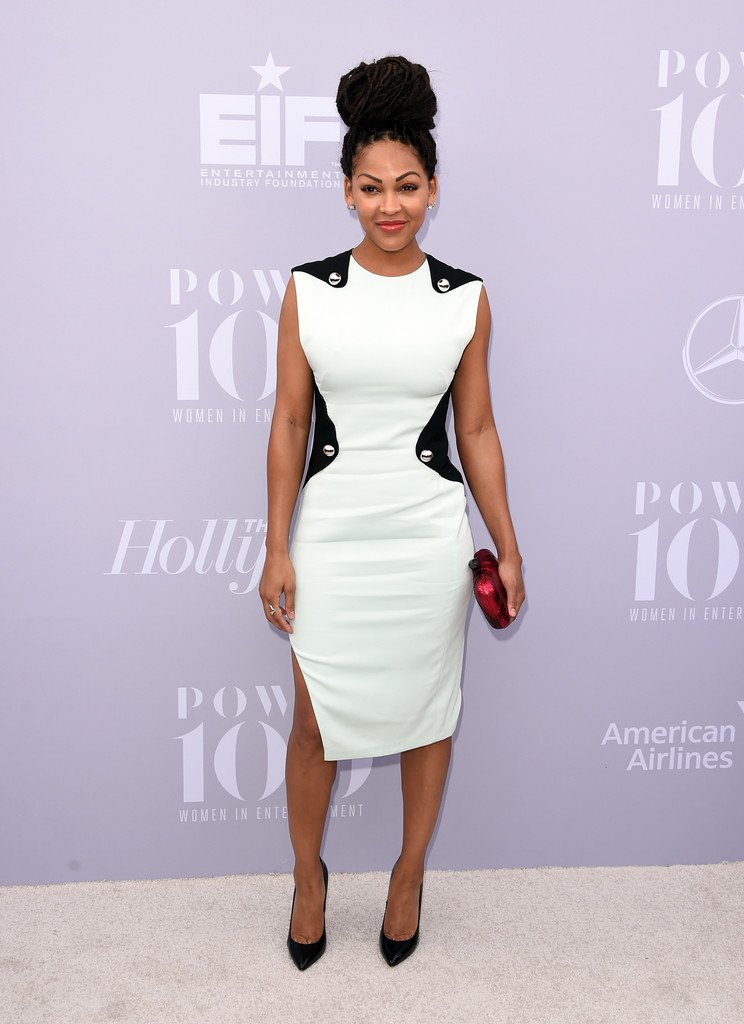 Meagan Good Wore A #mugler Resort 2016 Dress To @thr's
