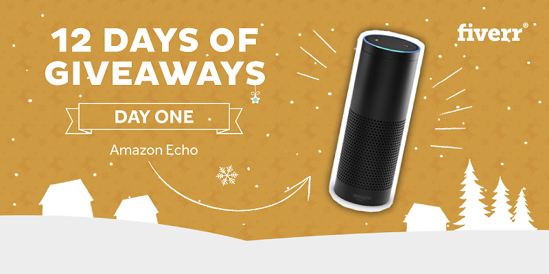 DAY 1: Follow us and RT this post for a shot to win an Amazon Echo! #FiverrHoliday https://t.co/jWLQzyopvp https://t.co/ducmwAjlWy