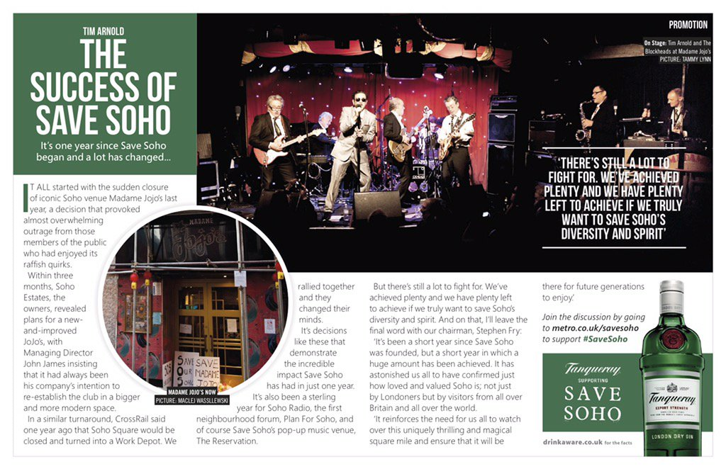 RT @savesoho: @stephenfry and @timarnold sum up one year of #savesoho in today's @MetroUK https://t.co/6K9hjP0qyi
