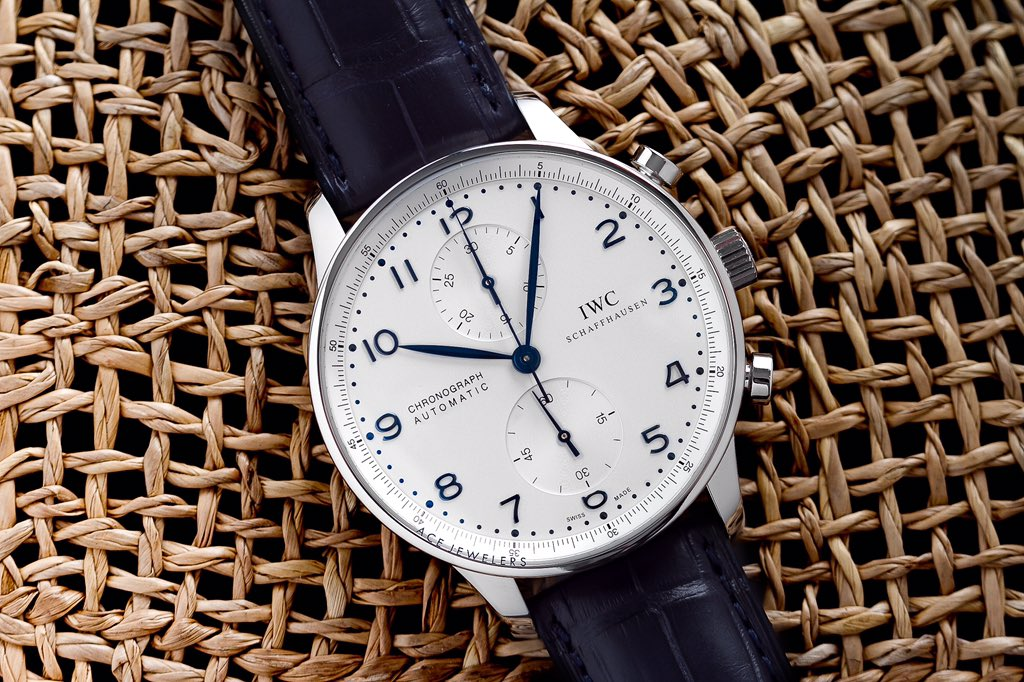 Evergreen! The #IWC Portugieser Chrono 3714 is such a timeless watch, its the perfect gift for him... And her.