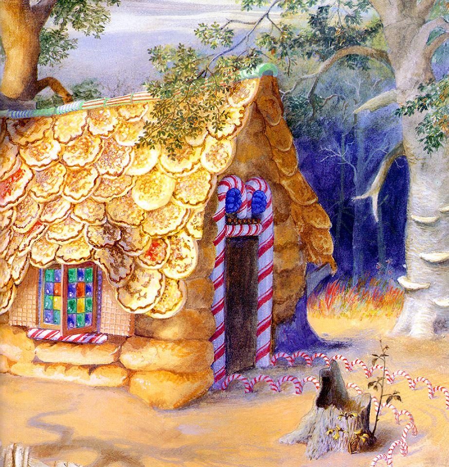 Картинка сказочный домик из сказки