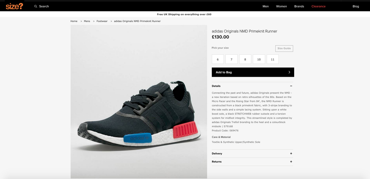 Adidas NMD R1 PK Tri Color Stripes Grey Red White Blue Nomad