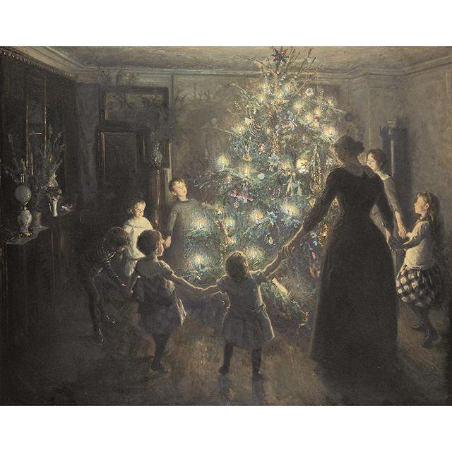 Happy Holidays! Image: @Hirschsprungske / V. Johansen, 'Silent Night'.
