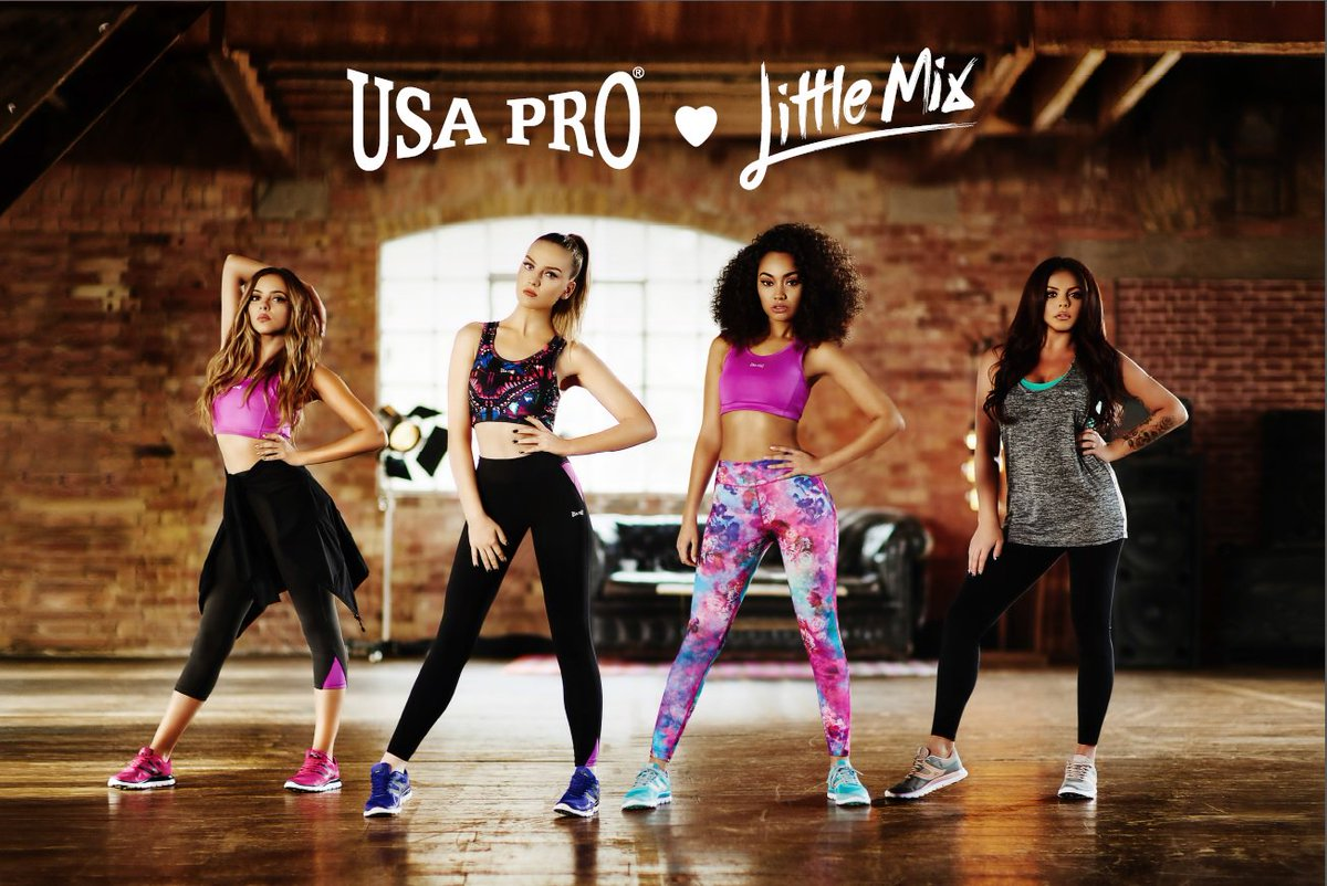 The work out clothes you've been waiting for! @LittleMix launch their own @USAProUK range https://t.co/WNNzwQqYGC https://t.co/Qlrye29cjl