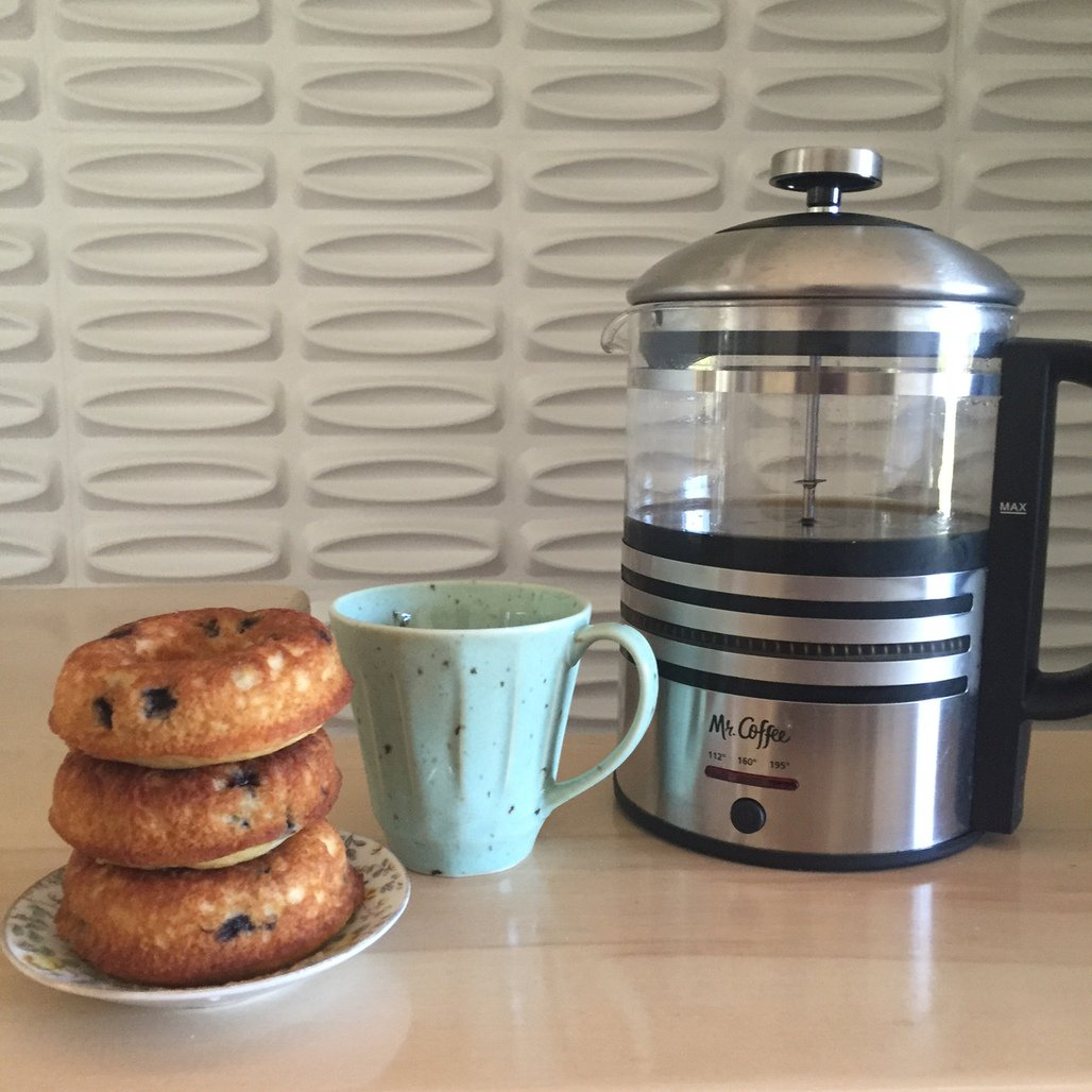 I love how easy it is to have coffee & donuts at home! Love my @MrCoffee electric French press #ad #GreatInTheMaking https://t.co/jkw2dY2PAu