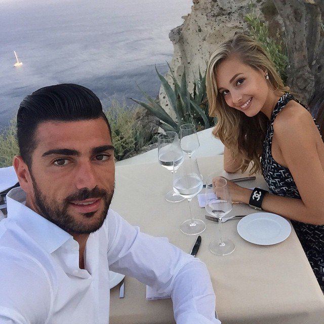Graziano Pelle and his girlfriend Viktoria Varga