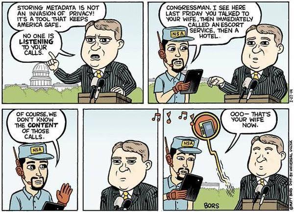 NSA spying on United States Congress, cartoon