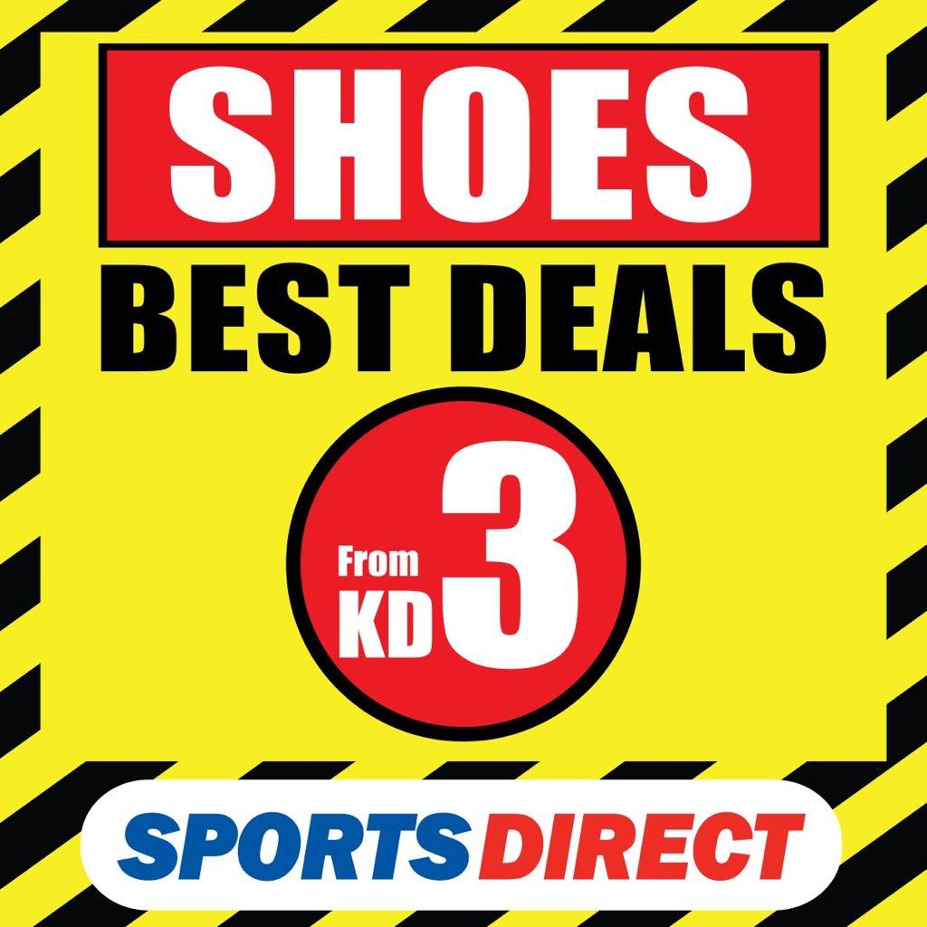 افضل شراء حذاء ابتداء من ٣ دك لدى سبورتس دايركت  Check out our best deals on #Shoes - Starting of 3 KD! https://t.co/abKDyaocm2