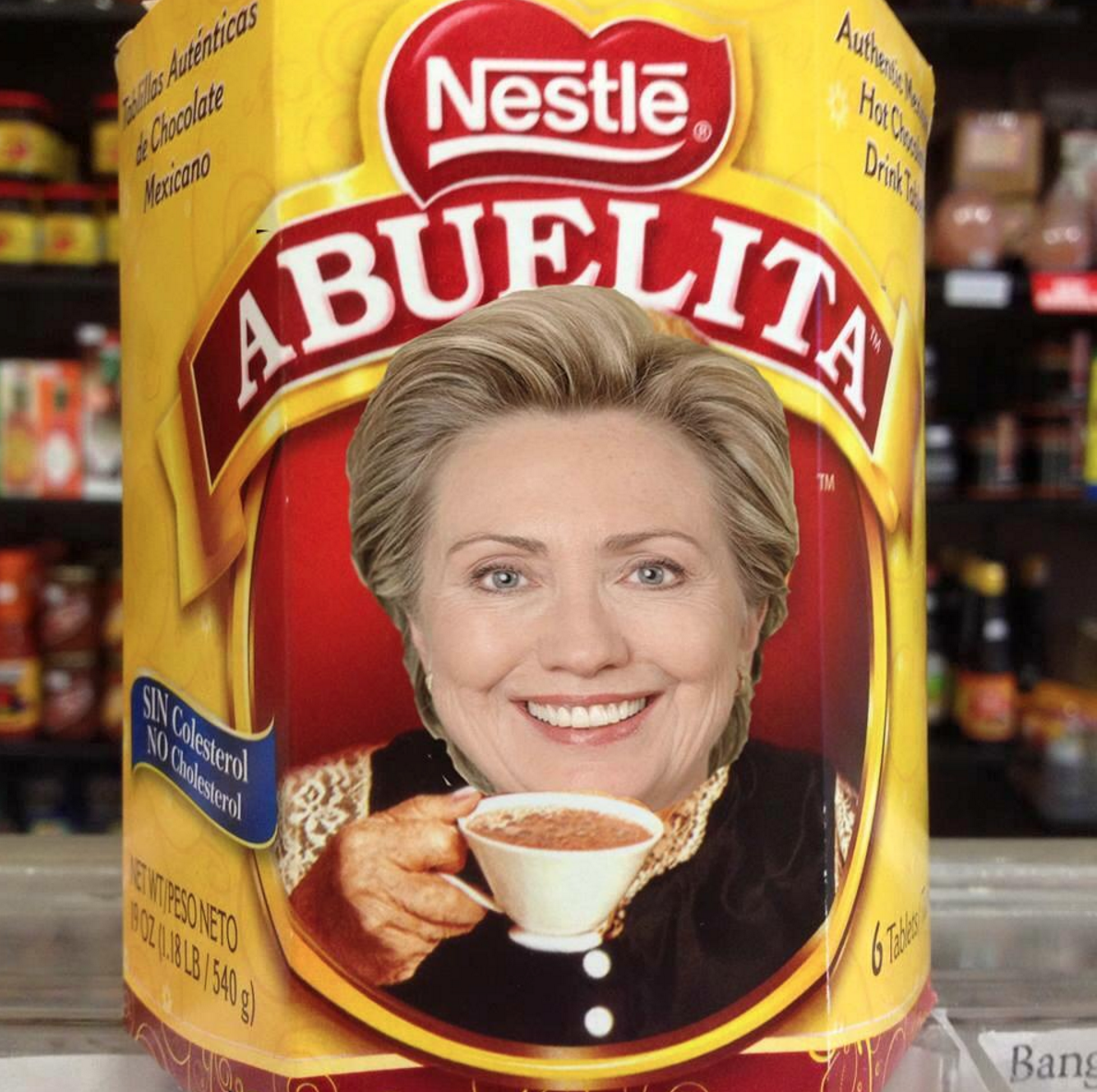 Hillary Clinton stands by abuela – Hispanics still hate her
