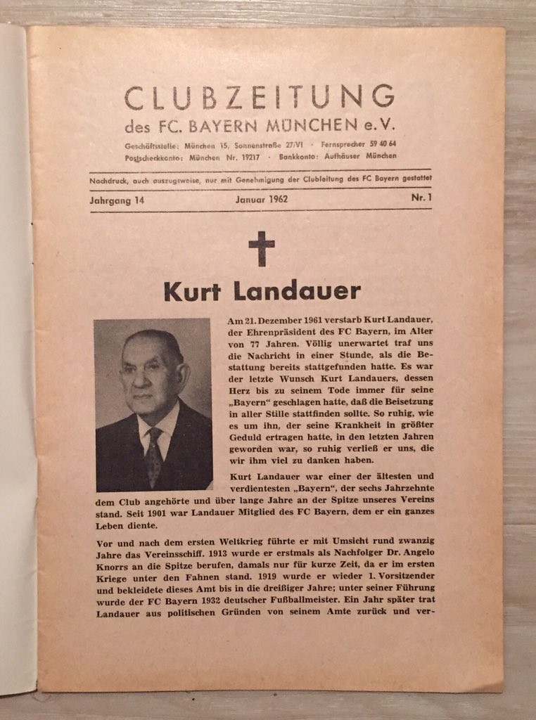 [Président] Kurt #Landauer {1913 - 1914} {1919 - 1921} {1922 - 1933} {1947 - 1951} CW2DMLZWoAAm-Pa