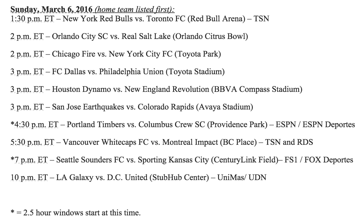 TFC to kickoff the season March 6th at the Red Bulls