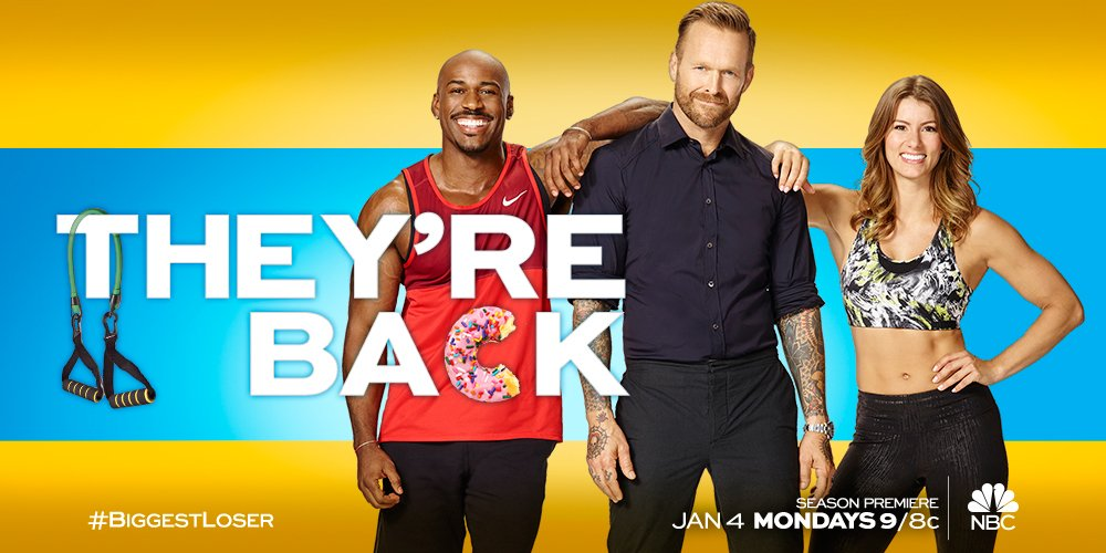 Join your favorite trainers for the most tempting season of @NBC's The #BiggestLoser yet, Monday, January 4 at 9/8c. https://t.co/NyOqxxe2fI