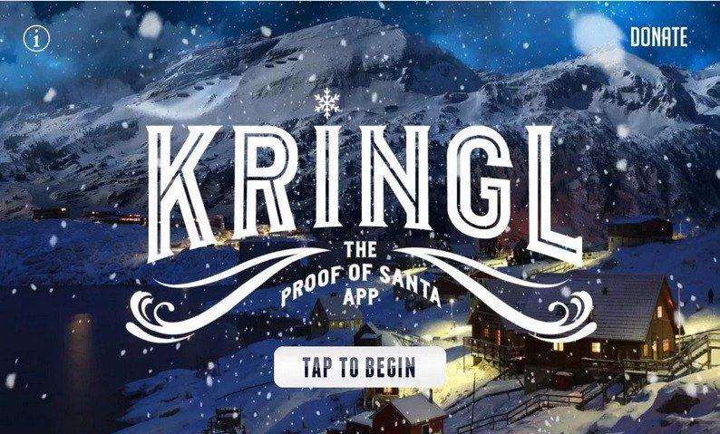 Kringl: la app che consente di acquisire la prova video dell'esistenza di Babbo Natale