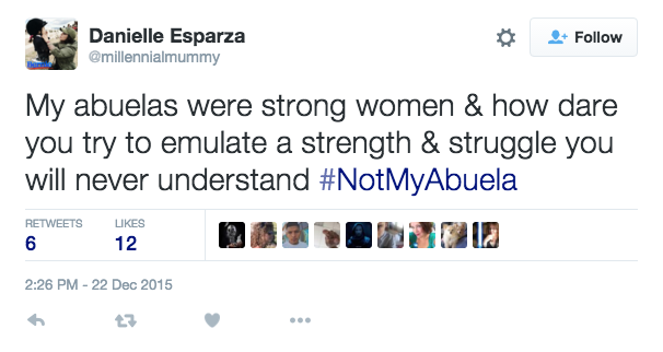 After Clinton campaign spectacularly misses the mark – Latinos tell her you're #NotMyAbuela: https://t.co/Ine9BZ9kmg