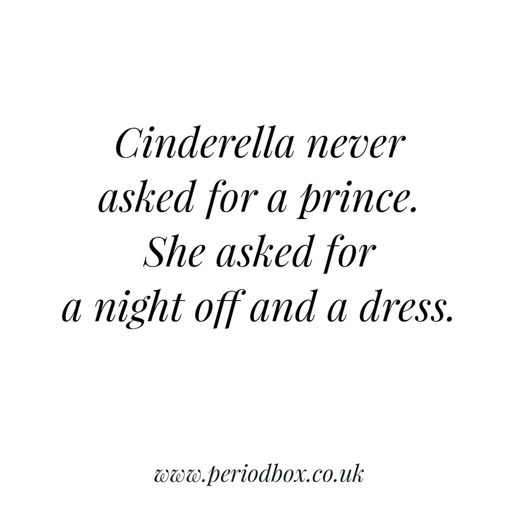 CINDERELLA NEVER ASKED FOR A PRINCE. SHE ASKED FOR A NIGHT OFF AND A DRESS:) #bbloggers #quoteoftheday https://t.co/jCzdz2aFyk