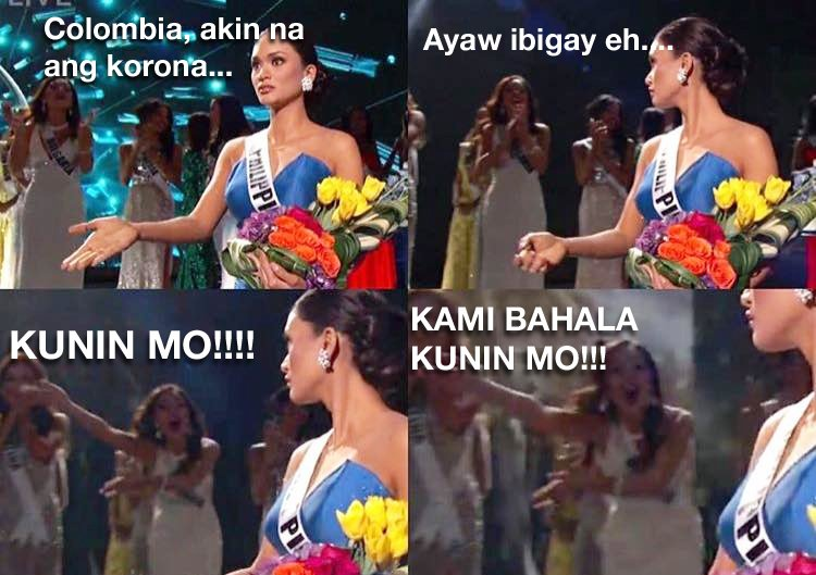 This just cracked me up! Funniest Miss Universe meme so far!