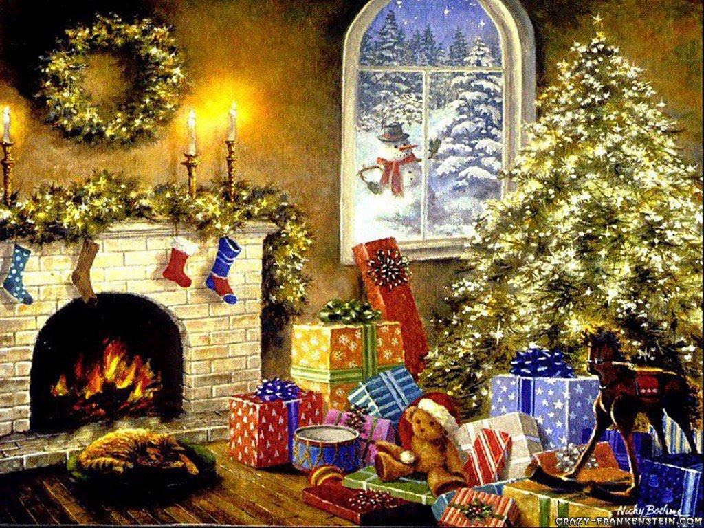Открытка, флеш открытка на рождество
