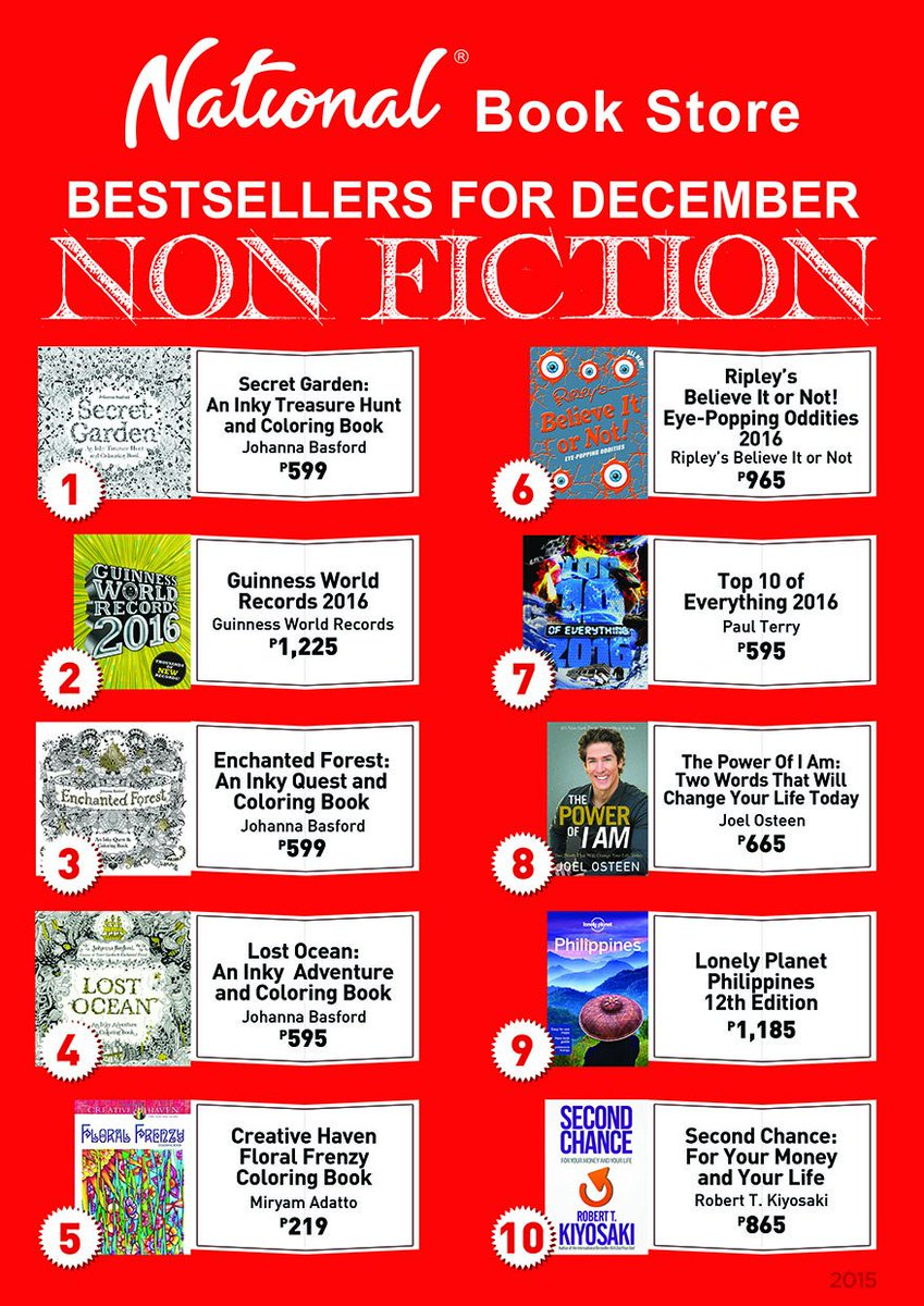 National Book Store On Twitter NBSnews Non Fiction Bestsellers For December Tco OK75ukzvEj