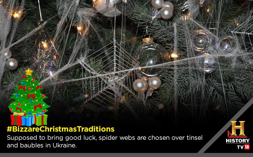 Bizzarechristmastraditions Spider Webs Christmas Tree