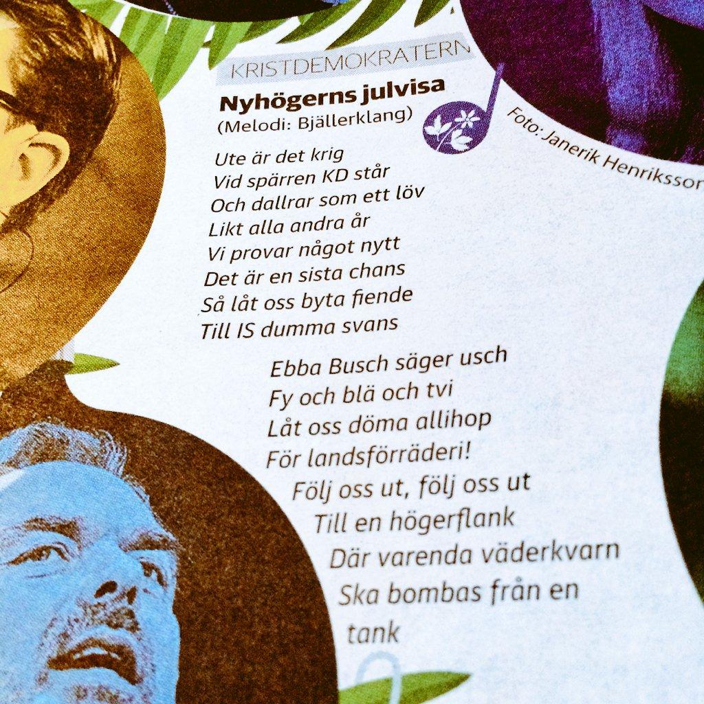 Viktor barth krons julsanger till stockholms politiker