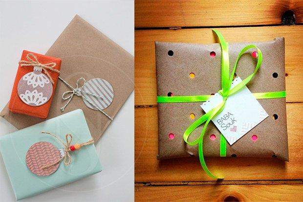 forma original de envolver una tarjeta de regalo