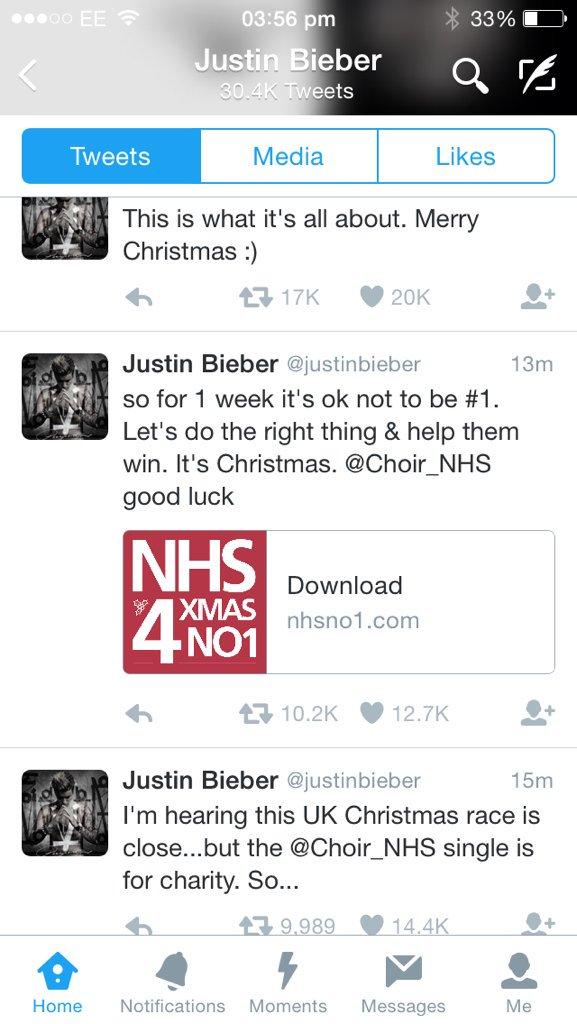 Nice one Bieber @Choir_NHS https://t.co/NQK3Tpy6XD