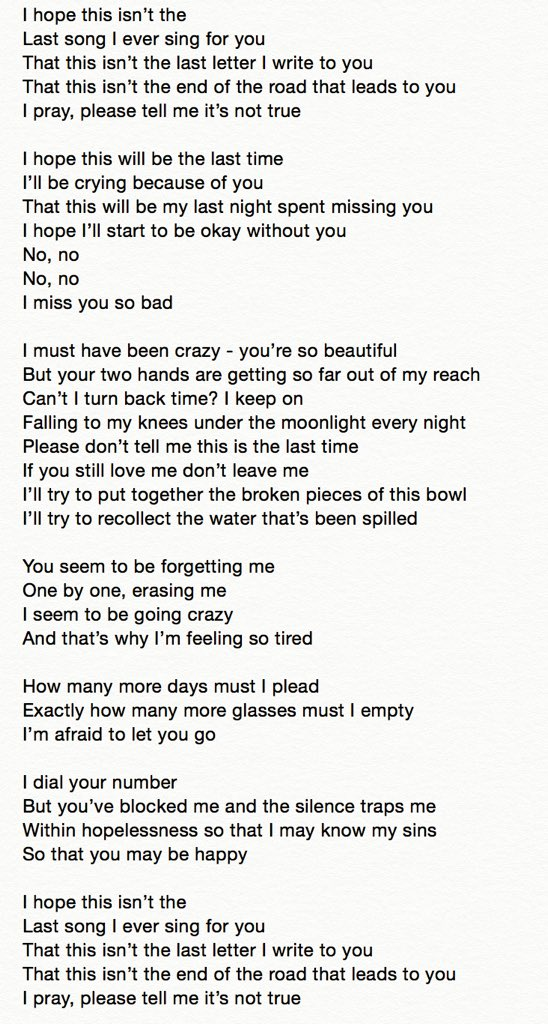 Miss you english song
