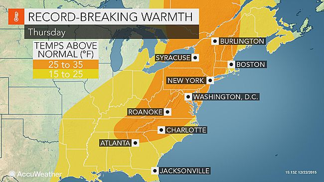NYC & Philly could see higher temps on Christmas Eve than they did on July 4th: https://t.co/bvhPTuXv4F https://t.co/JBz7X4J7nu