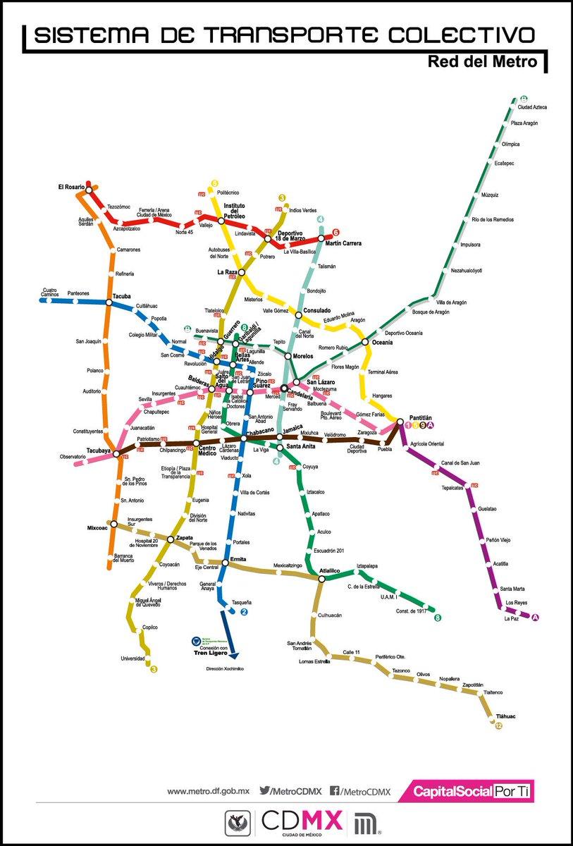 Metrocdmx على تويتر Descarga El Mapa De La Red Y Ubica Tu