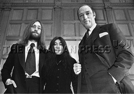 46 years ago tomorrow, Lennon & @YokoOno met Pierre Trudeau on campaign for peace: https://t.co/gnW4L7rrH2 #cdnpoli