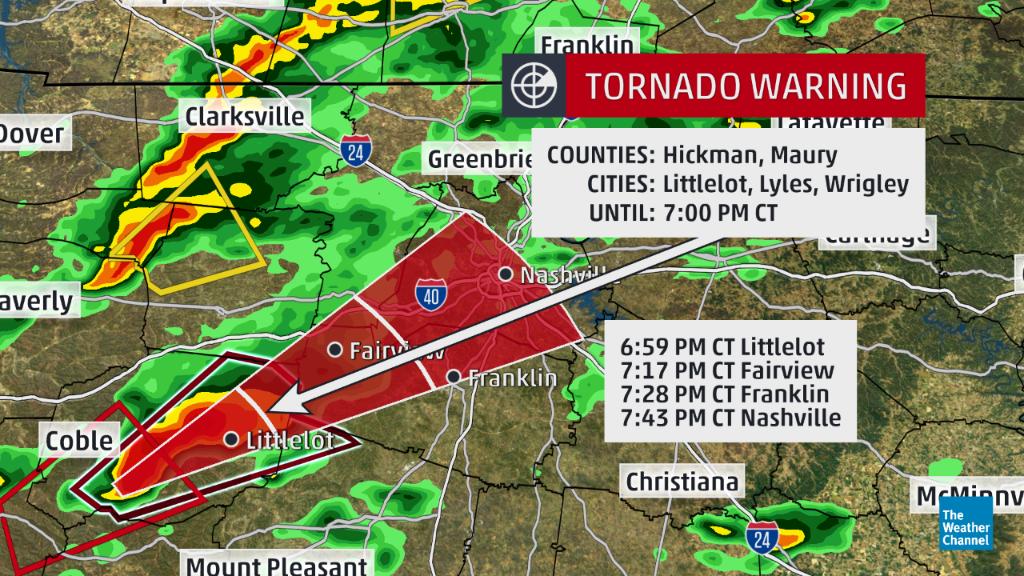 Map Nashville Not Currently Under Tornado Warning But Storm - Us severe weather alert and tornado warning map