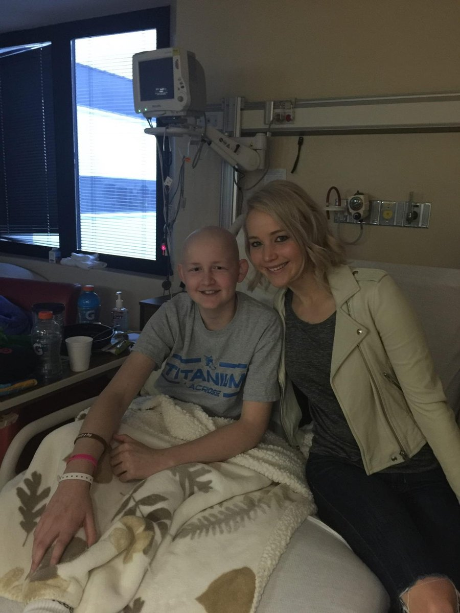 Jennifer Lawrence continues Christmas tradition of visiting children's hospital
